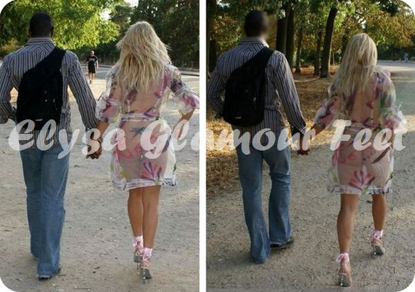 following Mistress Mistress takes a walk with a lover